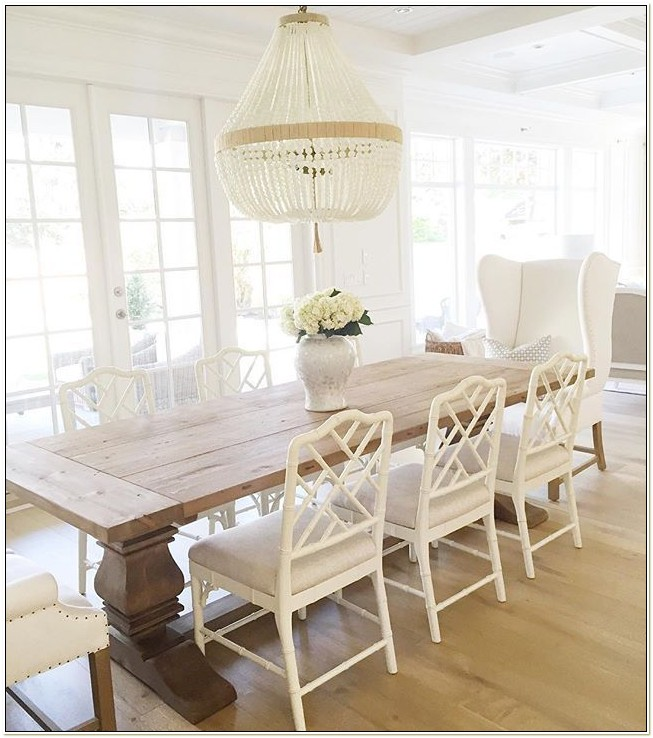 White Wood Dining Table Chairs