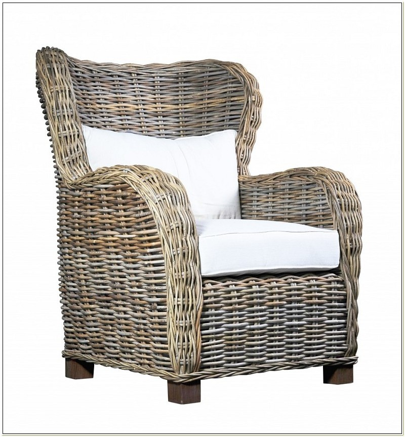 Wicker Arm Chair Indoor