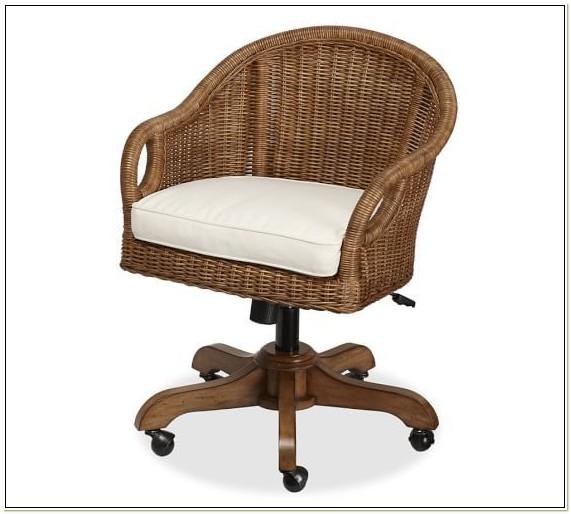 Wicker Desk Chair Pottery Barn