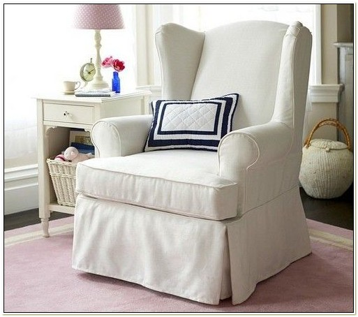 Wing Chair Cover White