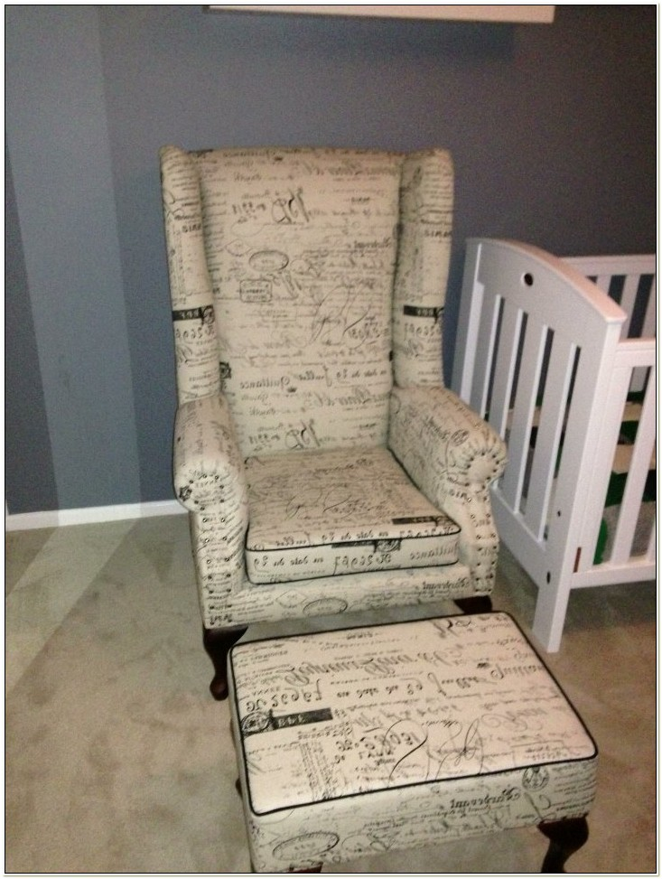 Wingback Chair And Ottoman Melbourne