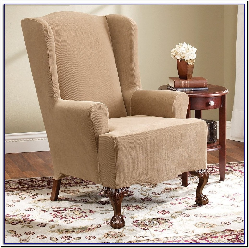 Wingback Chair Slipcovers Bed Bath Beyond