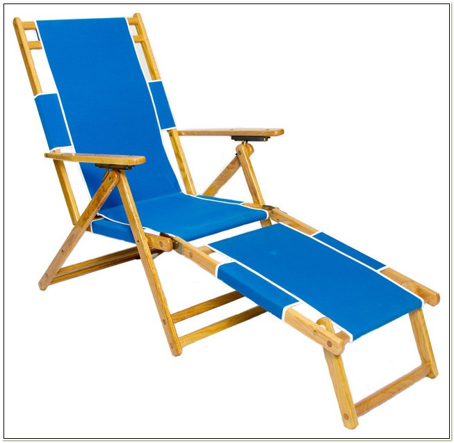 Wooden Beach Chair With Footrest