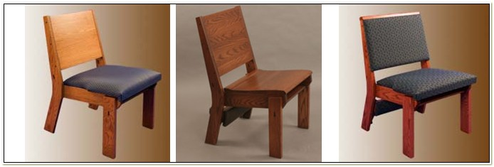 Wooden Church Chairs With Kneelers