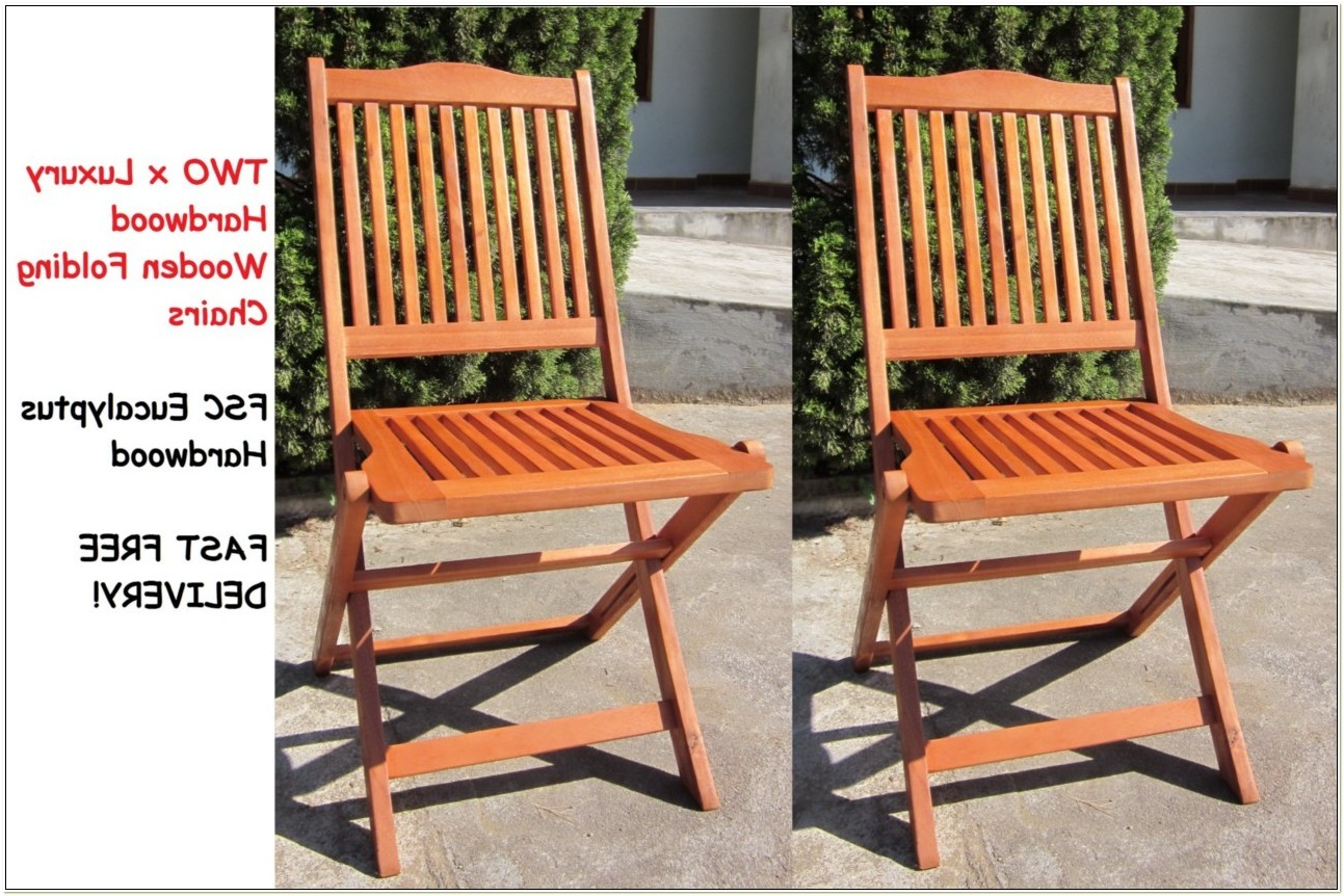 Wooden Folding Chairs Outside