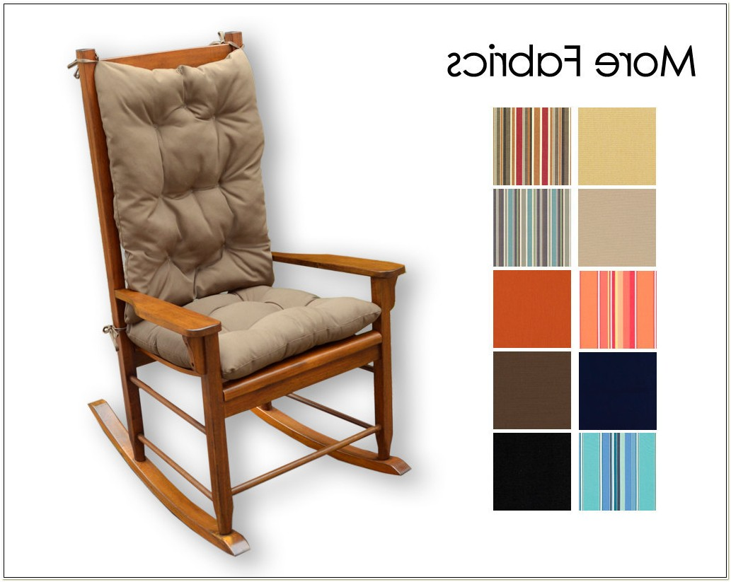 Wooden Rocking Chair Cushion Set