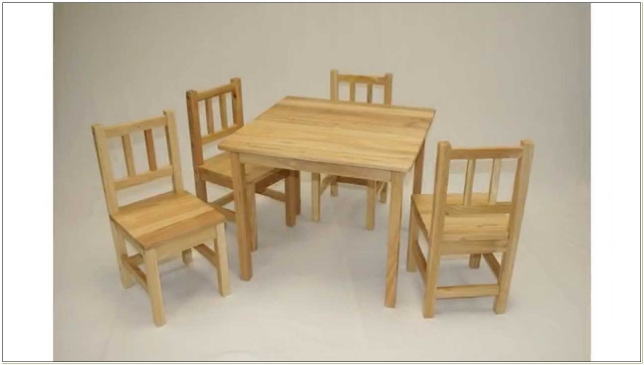 Wooden Toddler Table And Chair Set