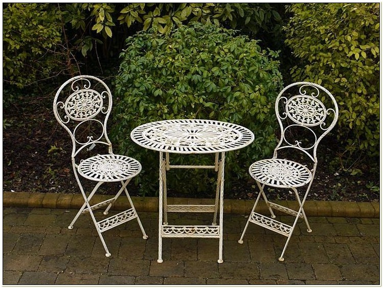 Wrought Iron Cafe Table Set