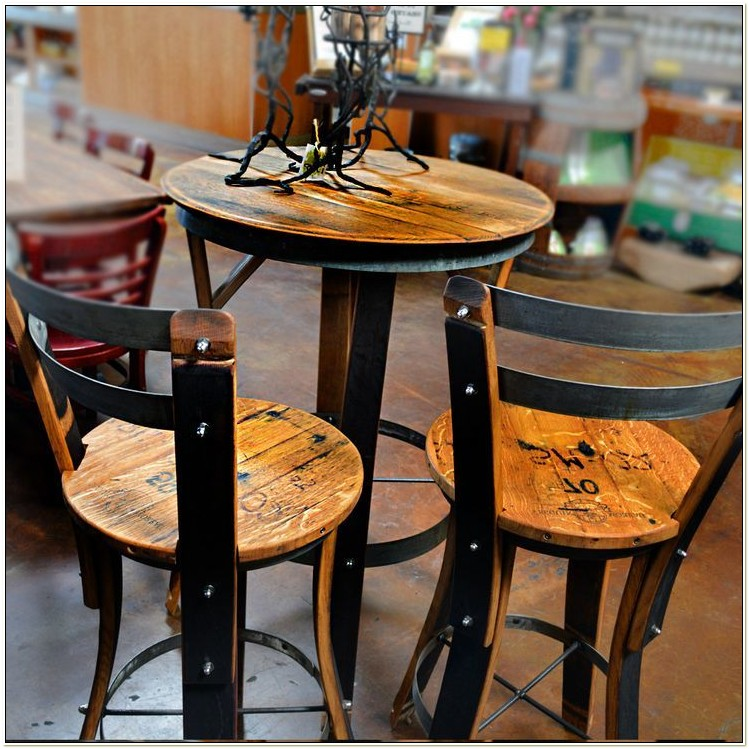 Wrought Iron High Top Table And Chairs