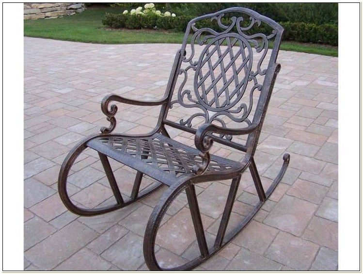 Wrought Iron Rocking Chair Patio Furniture