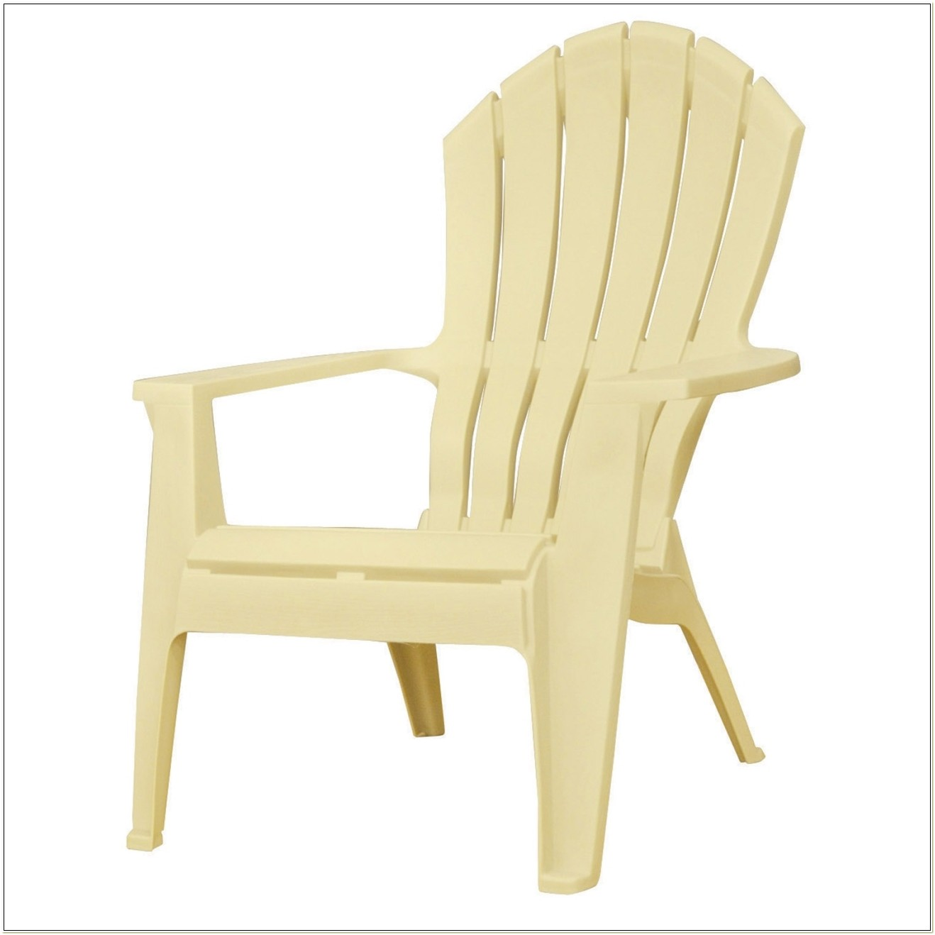 Yellow Plastic Adirondack Chairs