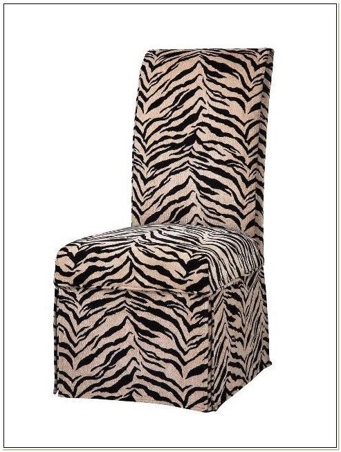 Zebra Print Parson Chair Covers