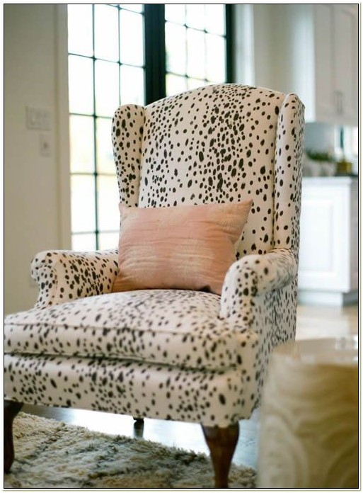 Zebra Print Wingback Chair Slipcover