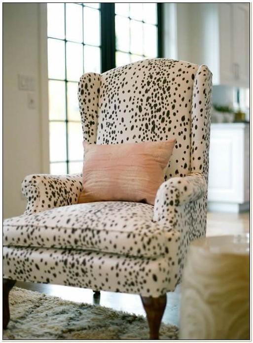 Zebra Print Wingback Chair Slipcover