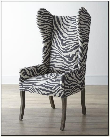 Zebra Print Wingback Chair