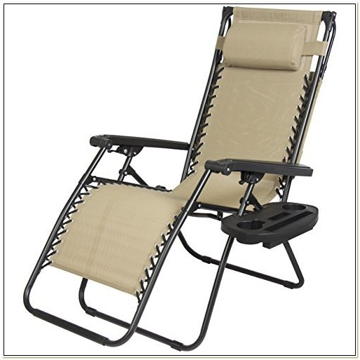 Zero Gravity Lawn Chair With Cup Holder