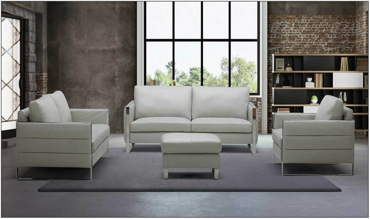 3 Piece Gray Living Room Set