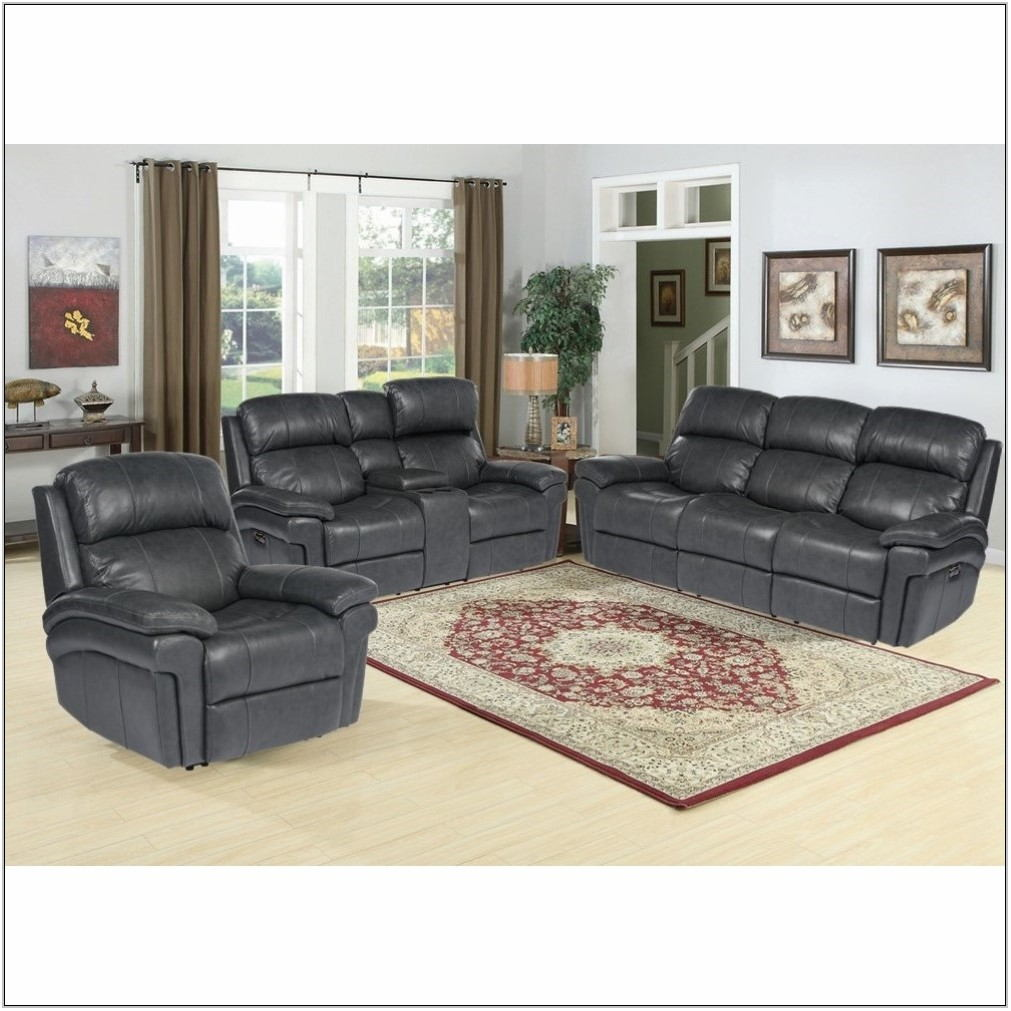 3 Piece Leather Reclining Living Room Set
