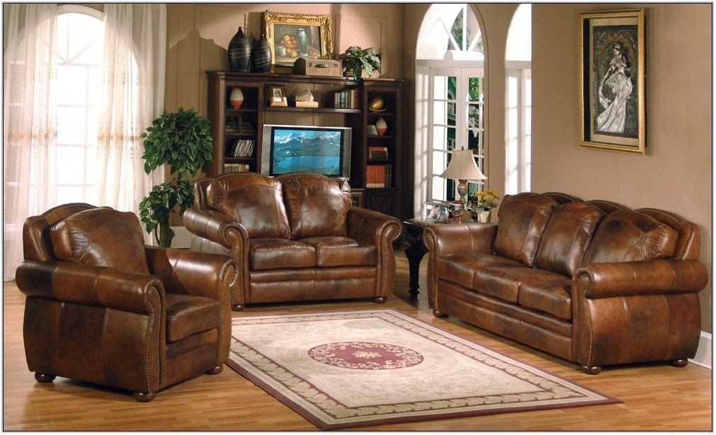 3pc Leather Living Room Set