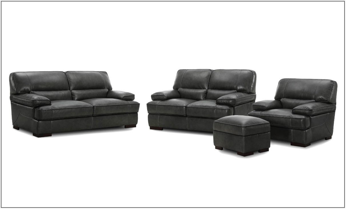 4 Piece Leather Living Room Set
