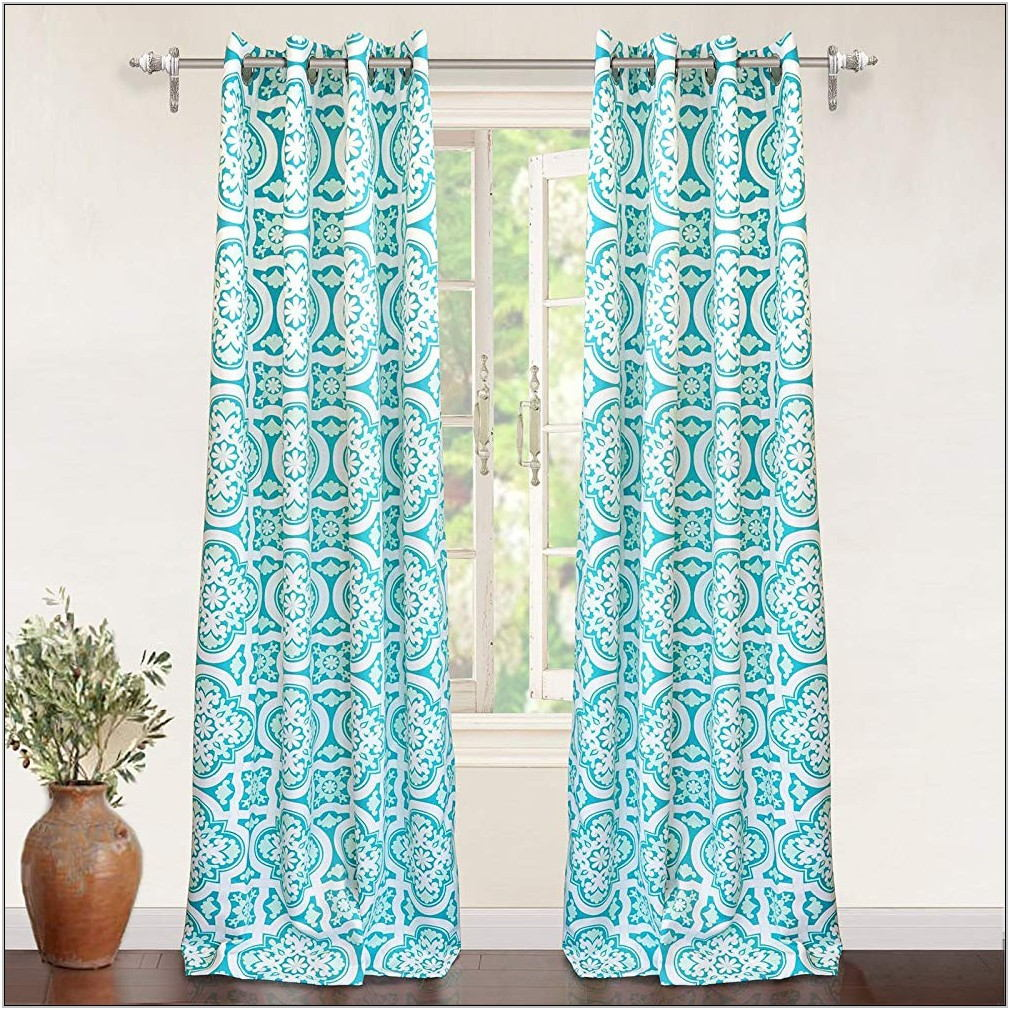 Aqua Living Room Curtains