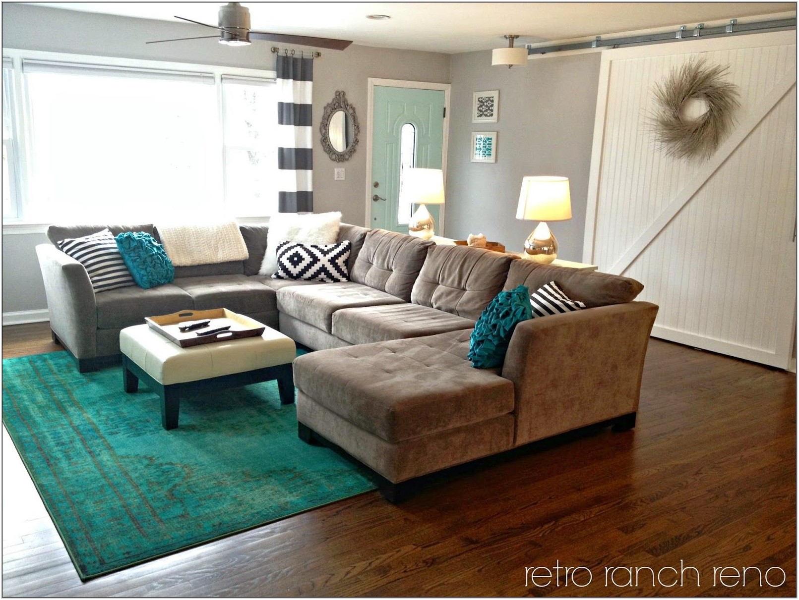 Aqua Living Room Rug