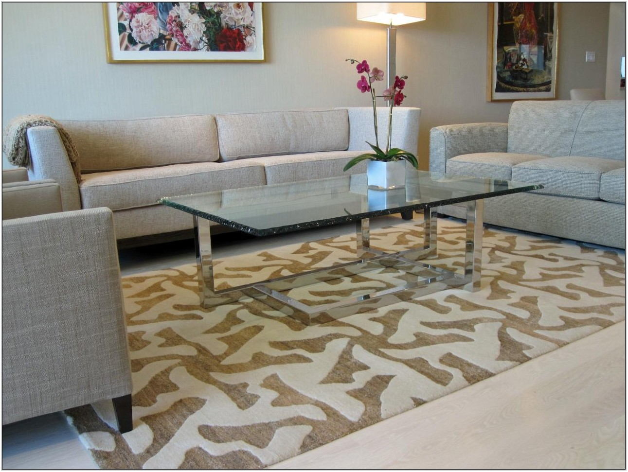 Area Rug On Carpet Living Room