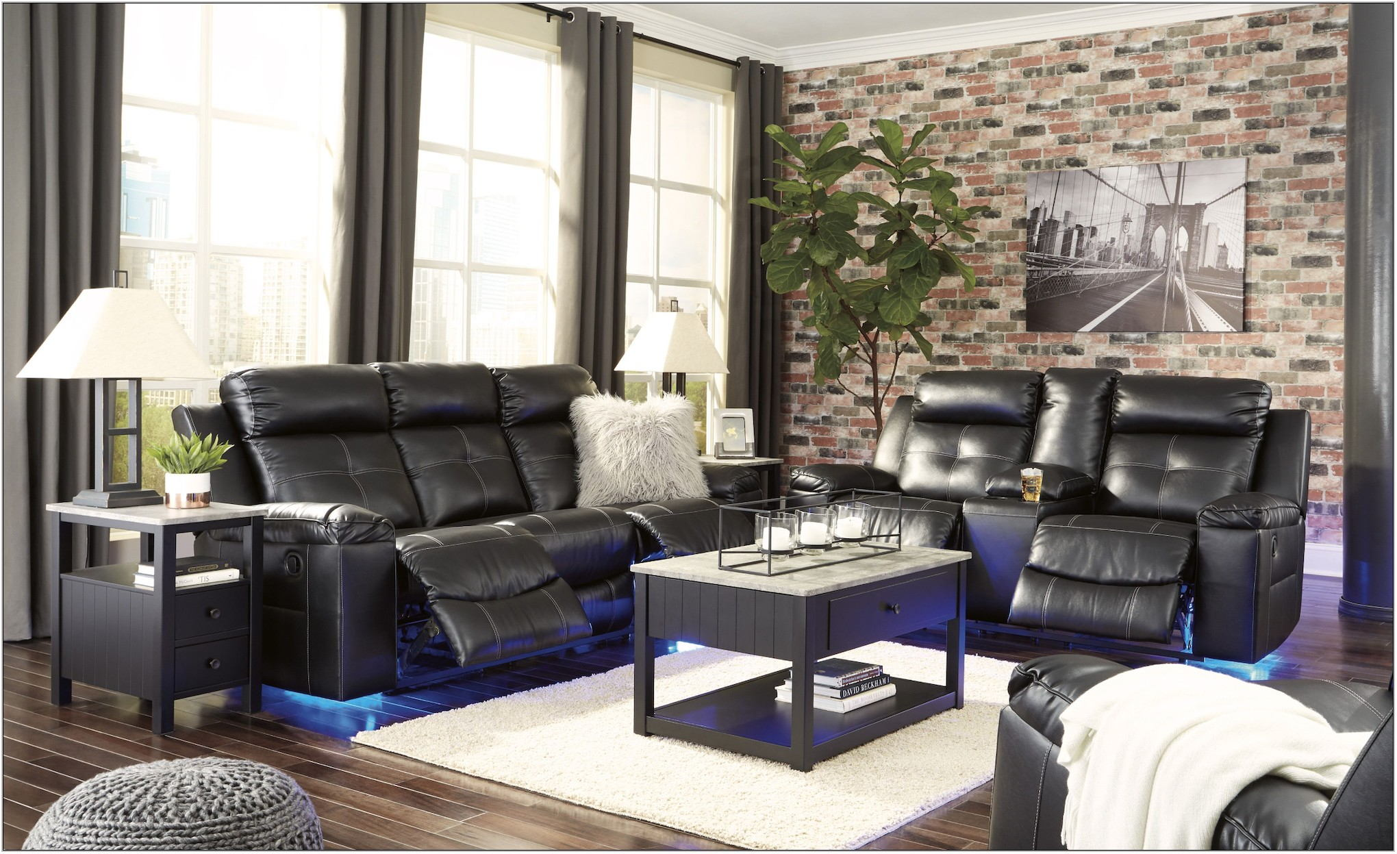 Ashley Furniture Black Living Room Sets