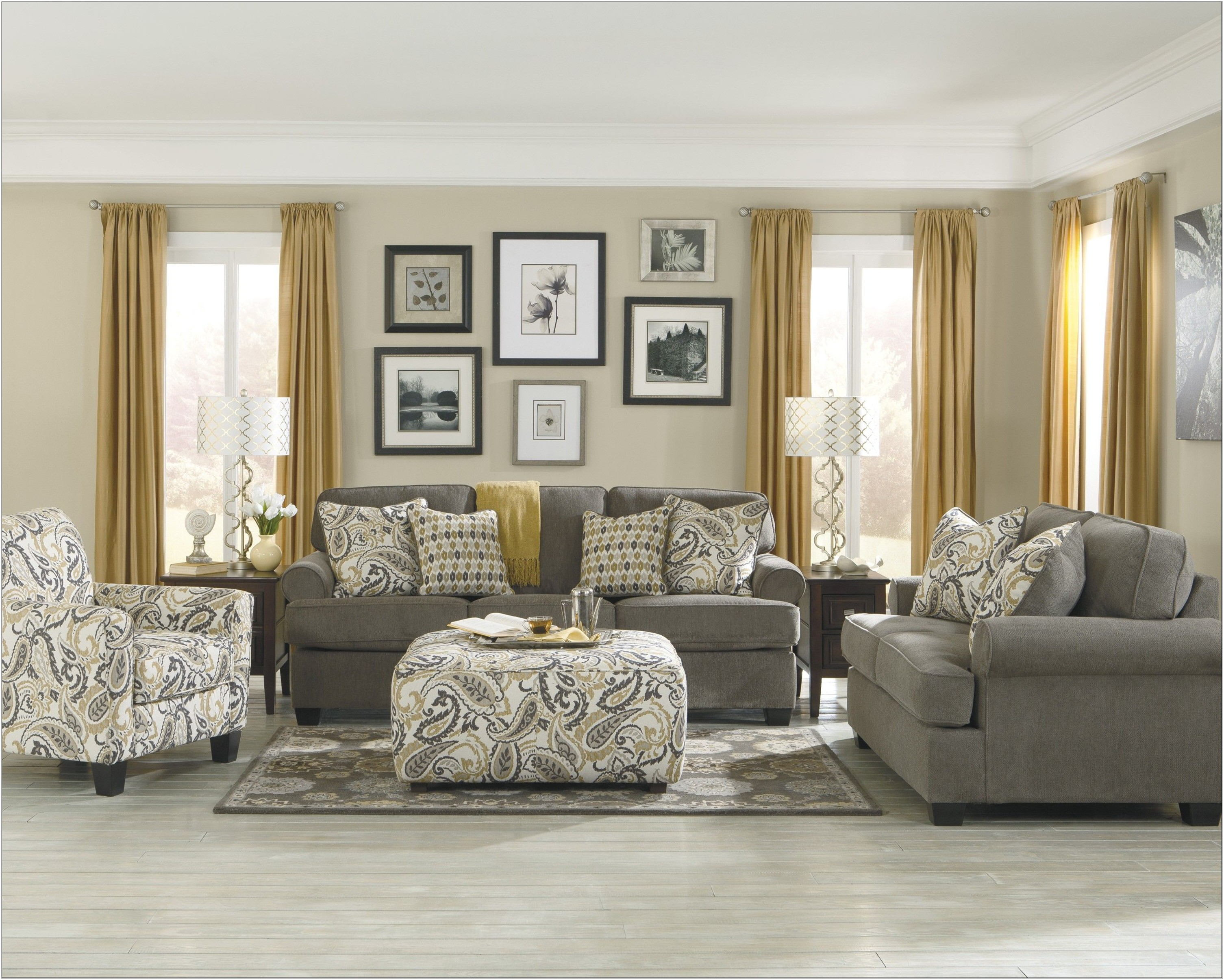 Ashley Furniture Grey Living Room Sets