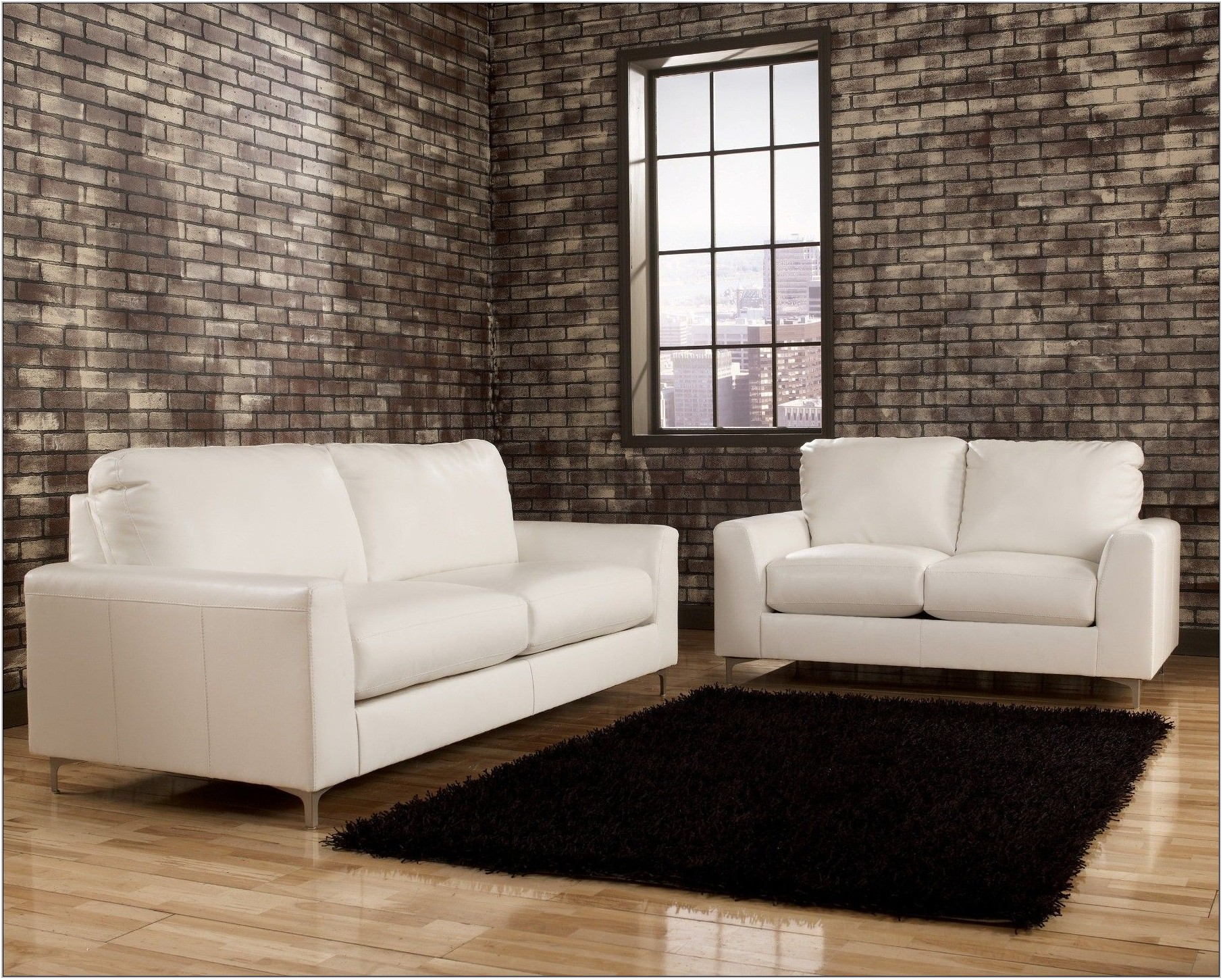 Ashley Furniture White Living Room Set