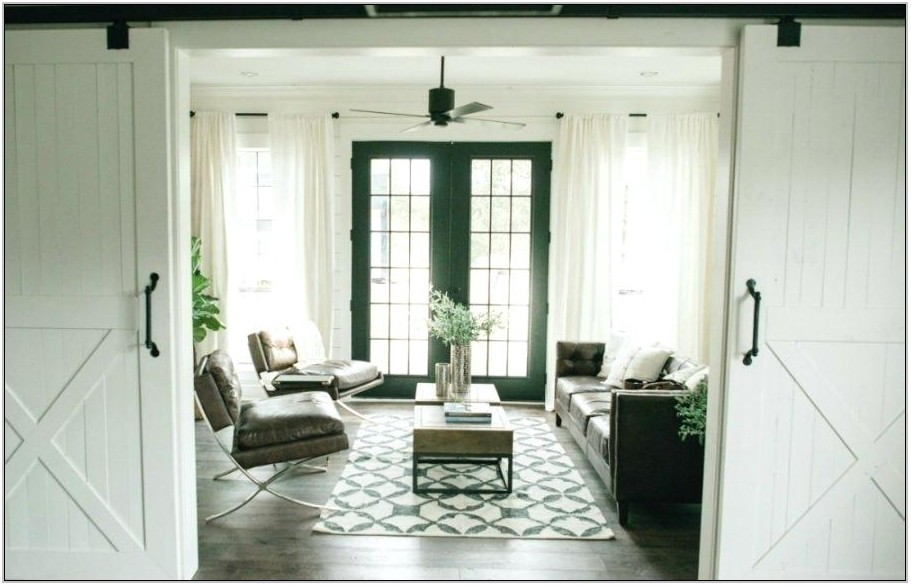 Barn Door Living Room Set