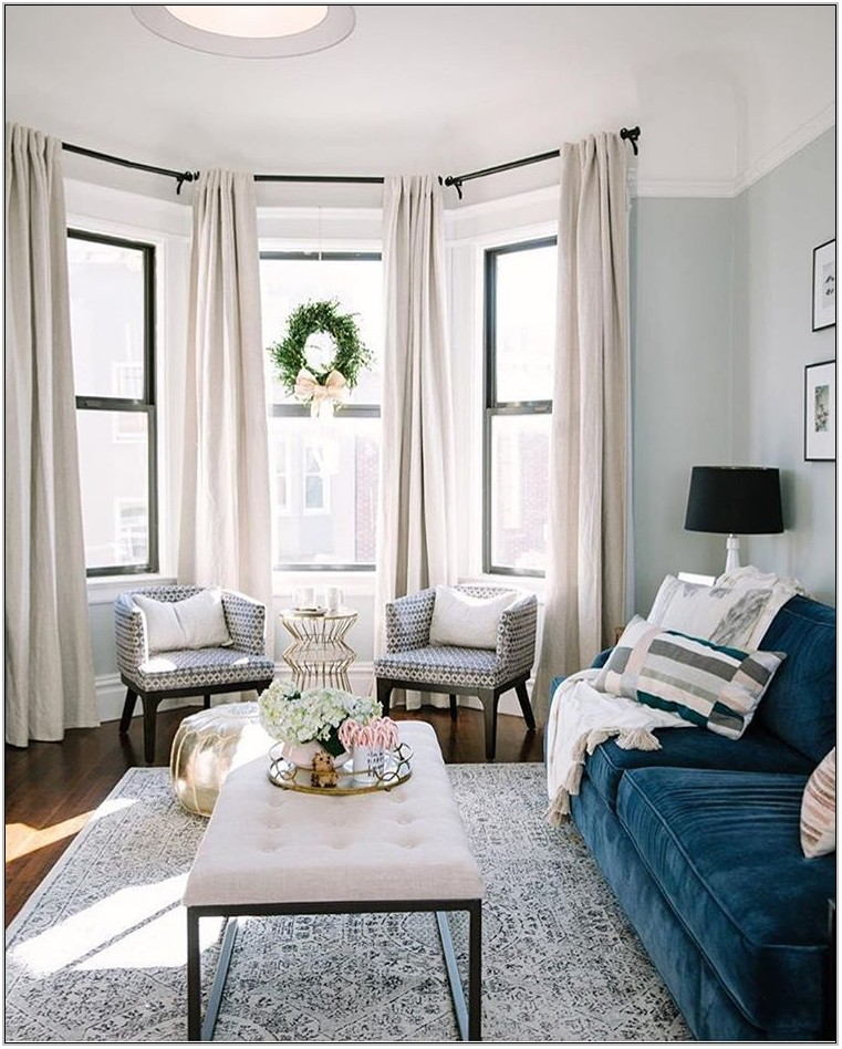 Bay Window Curtains Living Room