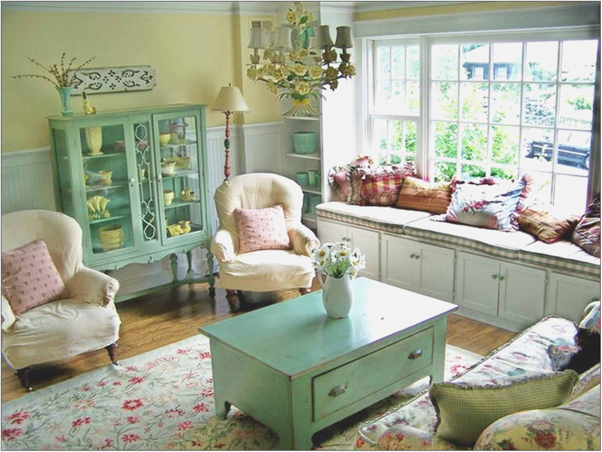 Beach Cottage Style Living Room Furniture