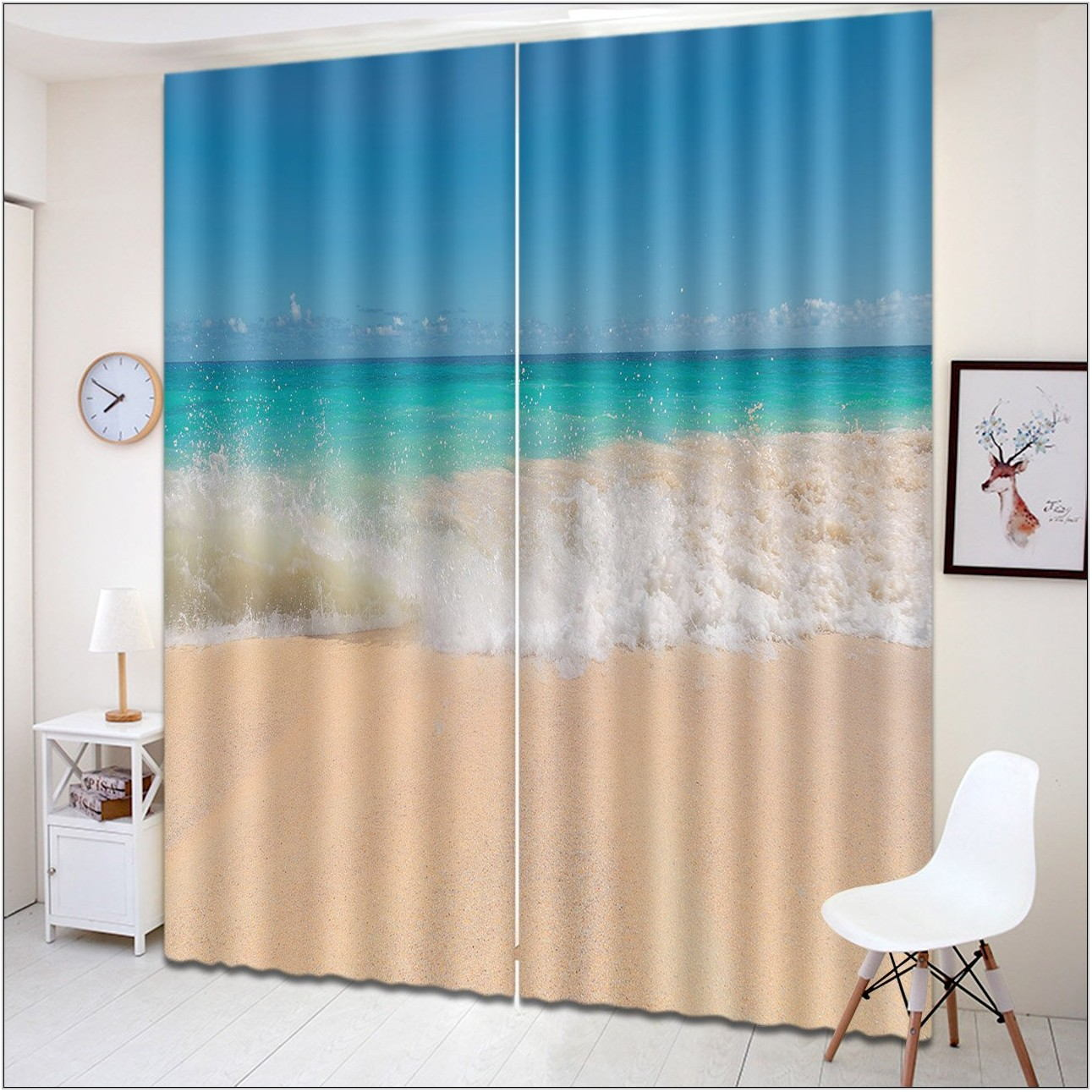 Beach Curtains For Living Room