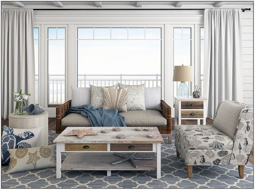Beach Themed Living Room On A Budget