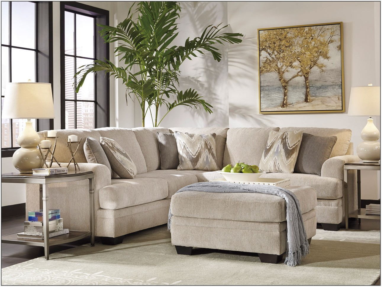 Beige Sectional Living Room
