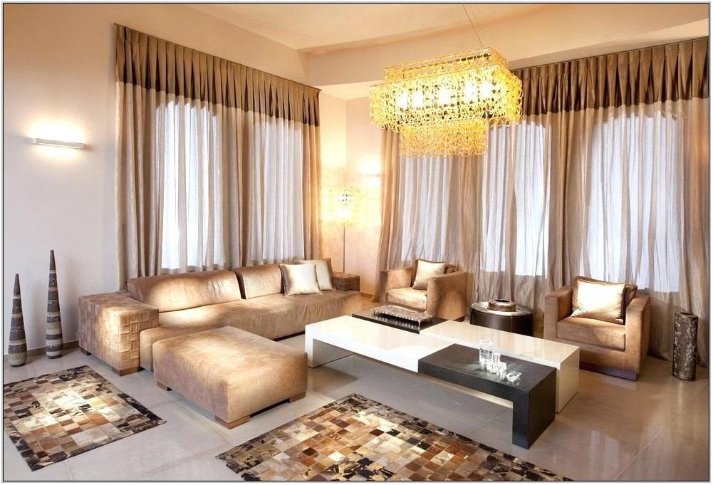 Beige Valances For Living Room