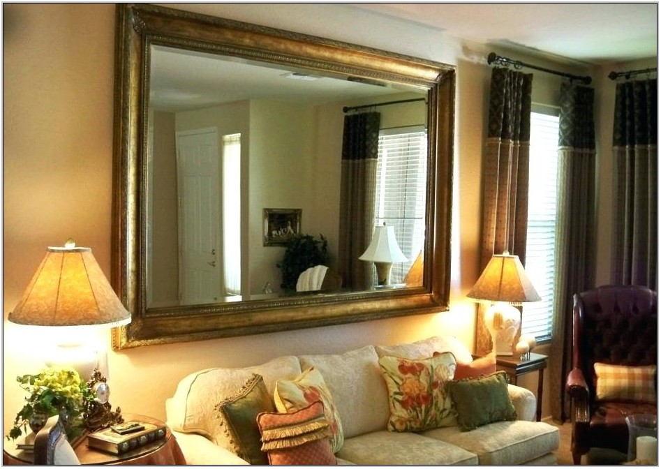 Black Framed Mirror For Living Room