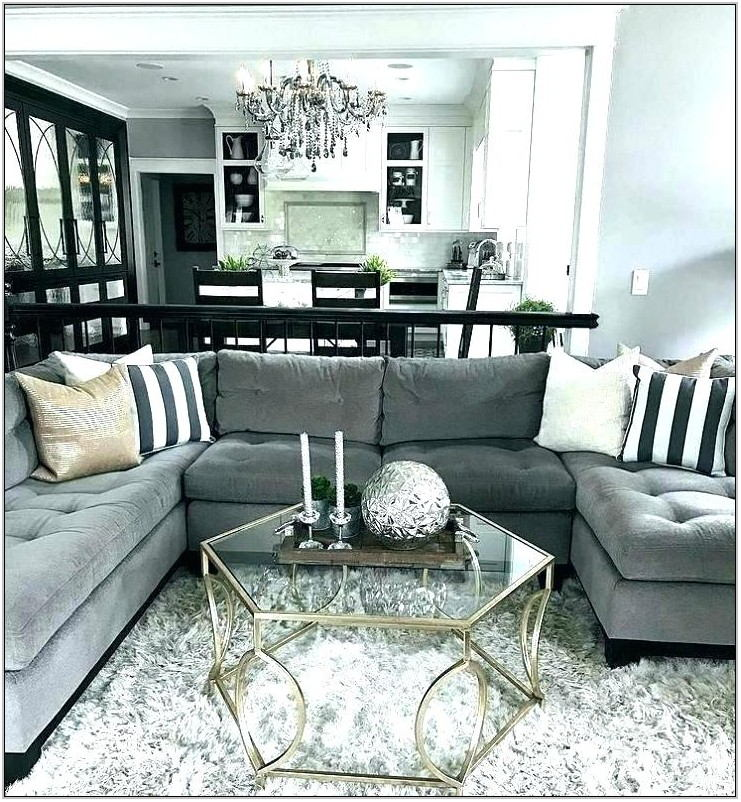 Black Fur Rug Living Room