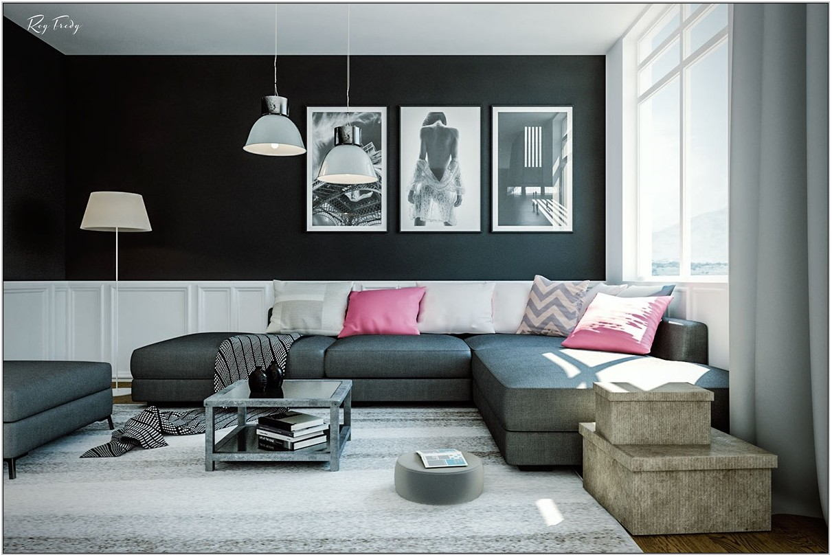 Black Living Room Sofa