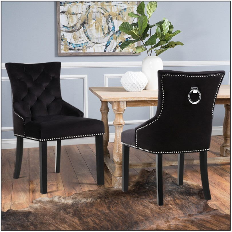 Black Velvet Living Room Chairs