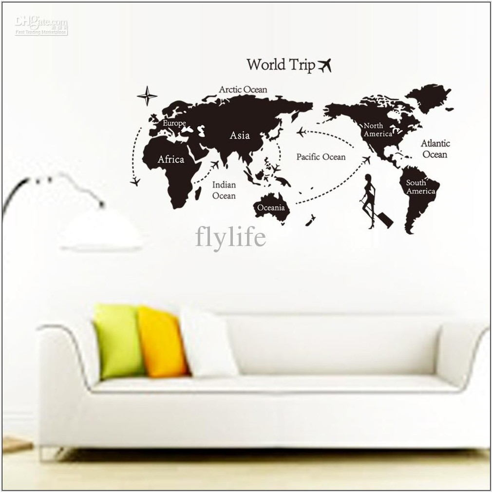 Black Wall Stickers For Living Room
