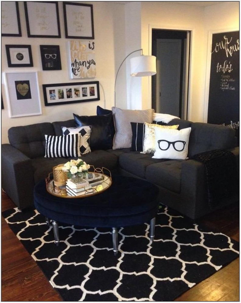 Black White And Gold Living Room Ideas