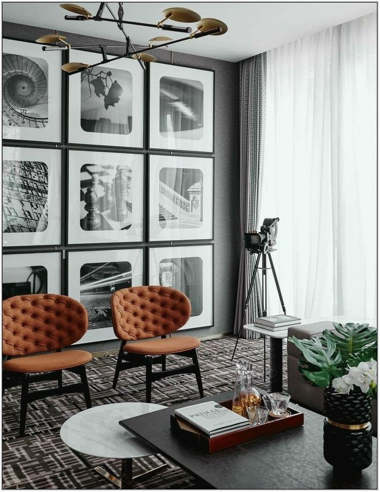 Black White Chairs Living Room