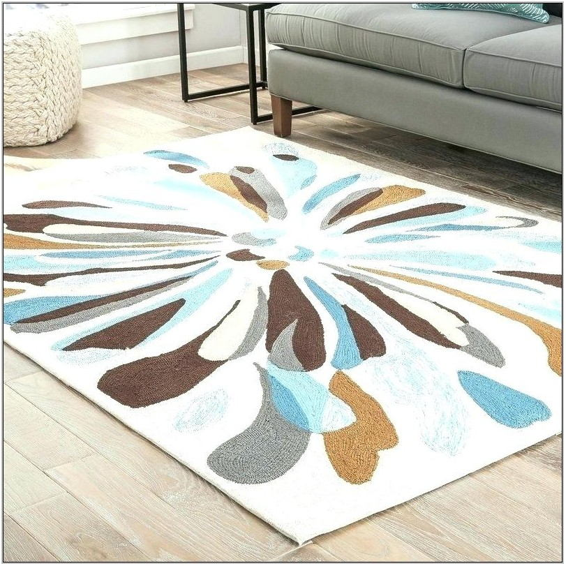 Blue And Brown Rug For Living Room