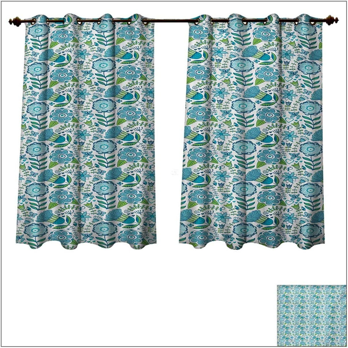 Blue And Green Curtains For Living Room