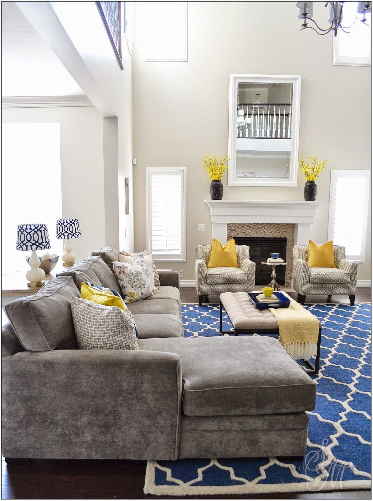 Blue And Grey Living Room Rugs