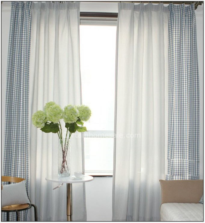 Blue And White Curtains For Living Room
