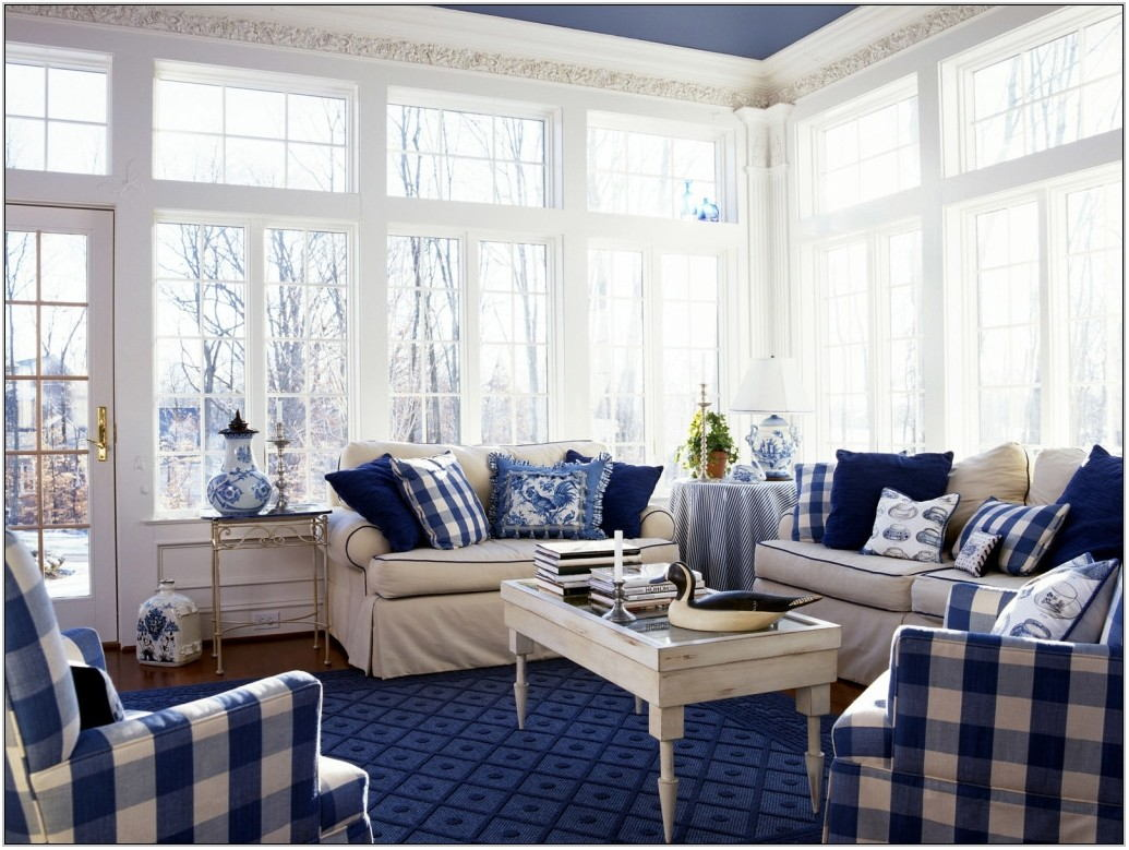 Blue Carpet Living Room