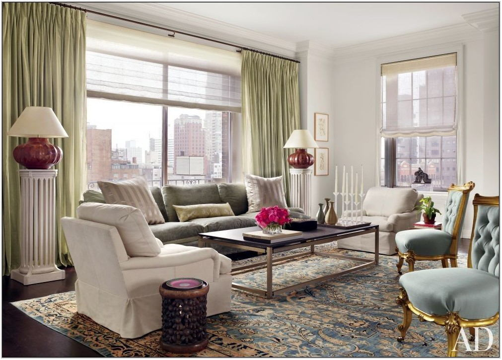 Blue Oriental Rug Living Room